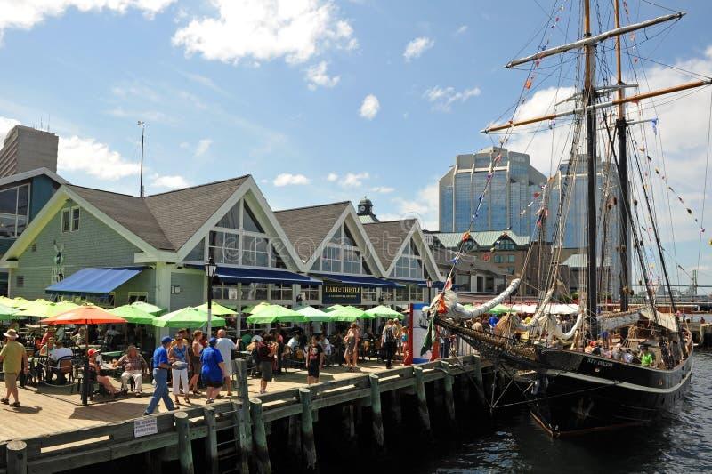 De lange gebeurtenis van Schepen in Halifax, Nova Scotia royalty-vrije stock foto