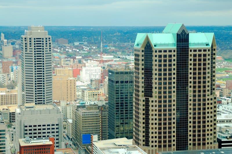 De lange gebouwen van St.Louis stock fotografie