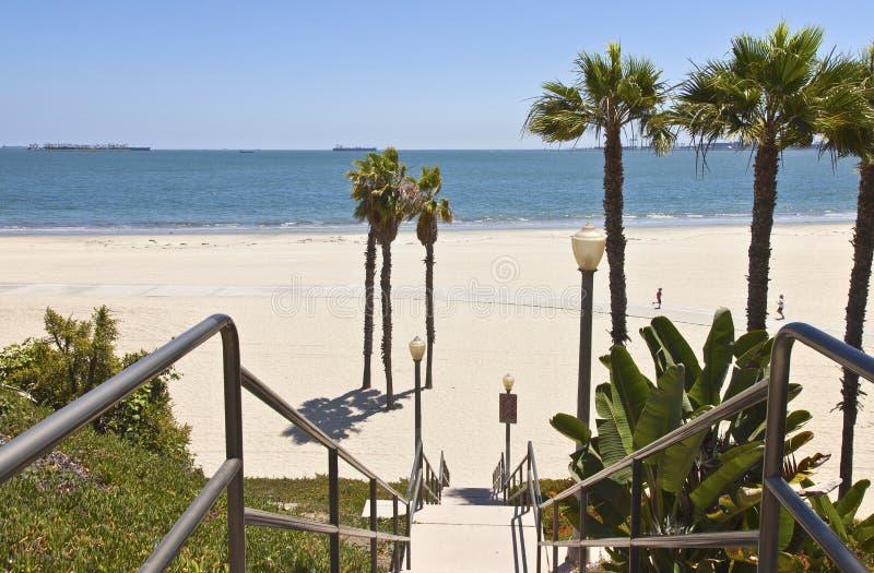 De lange oceaanmening van Strandcalifornië. royalty-vrije stock foto
