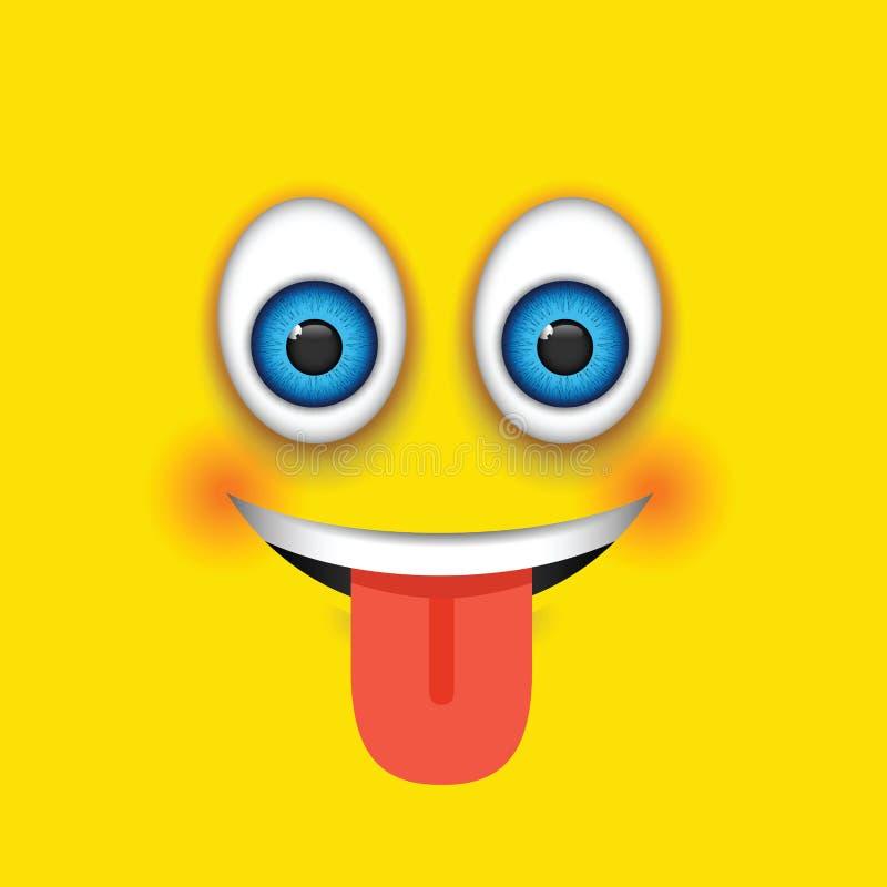 De langue emoji  illustration de vecteur