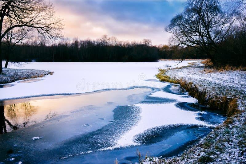 De langverwachte winter stock afbeelding