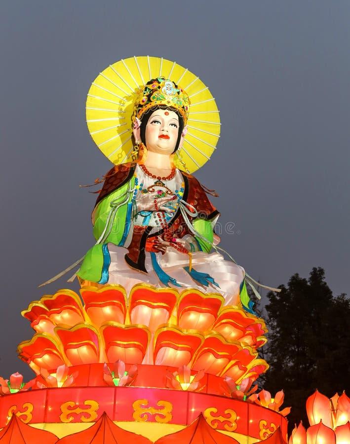 De lantaarn toont in chengdu, China stock foto