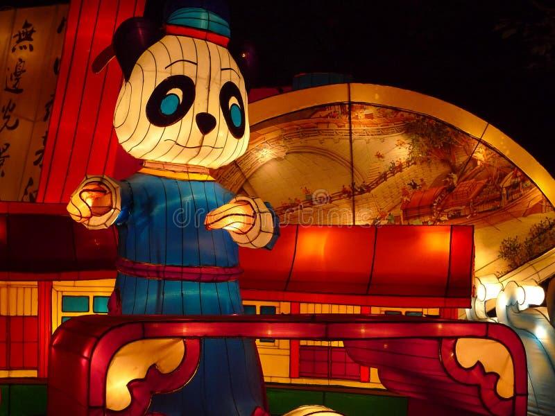 De lantaarn toont in chengdu, China stock afbeeldingen