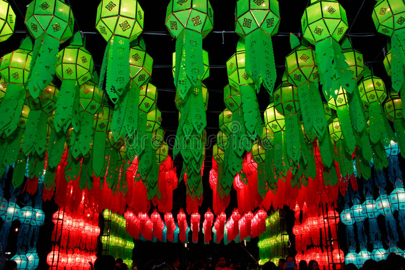 De lantaarn van Lanna royalty-vrije stock foto