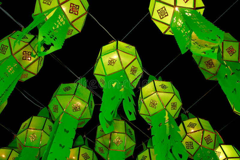 De lantaarn van Lanna stock afbeeldingen