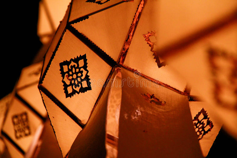 De lantaarn van Lanna stock foto