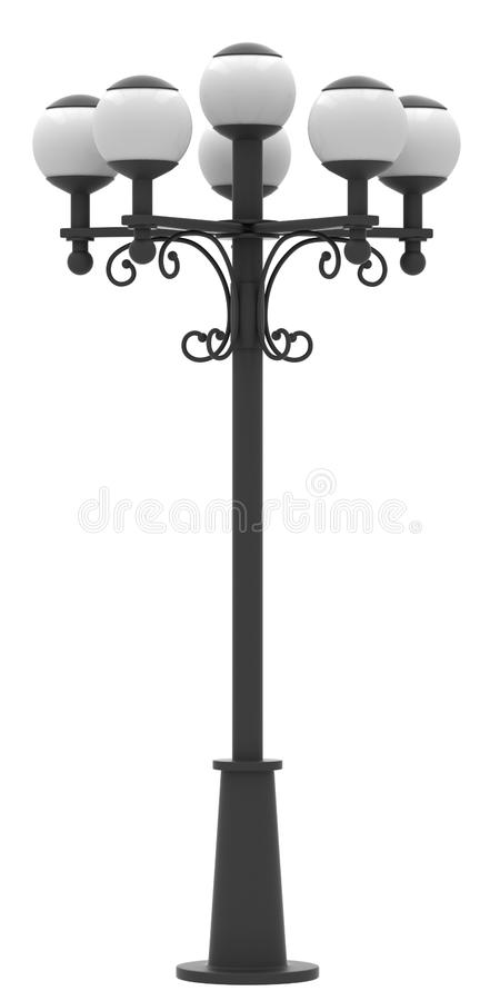 De lantaarnpaal van de straat vector illustratie