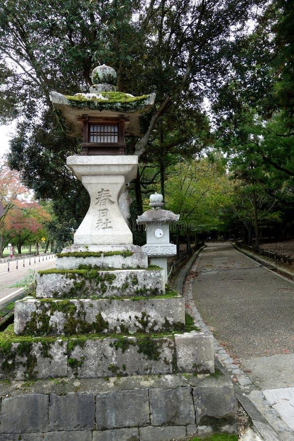De Lantaarns Nara, Japan van de steen stock foto's