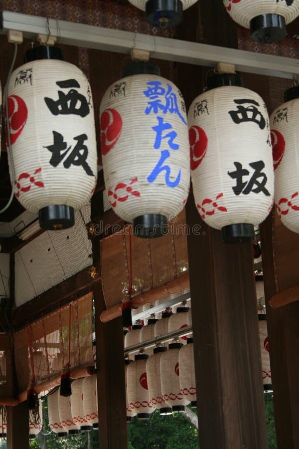 De Lantaarns van de tempel stock foto's