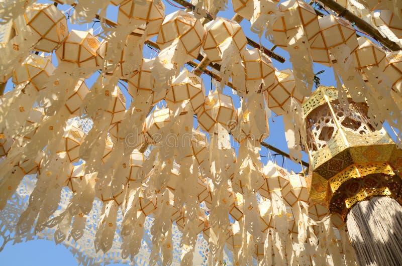 De lantaarns van Lanna royalty-vrije stock fotografie