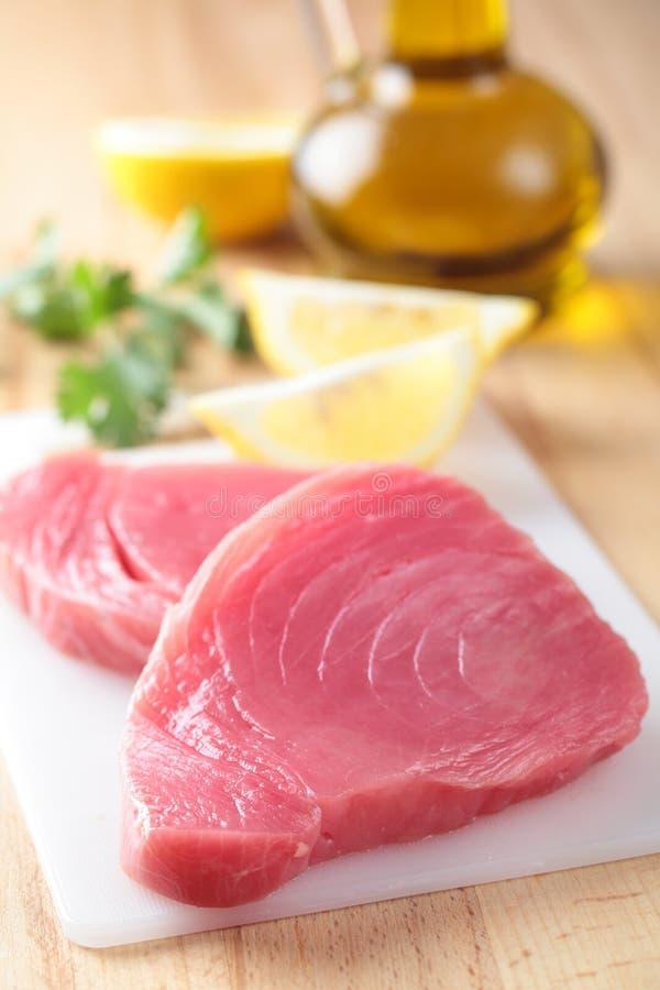 De lapjes vlees van de tonijn royalty-vrije stock foto's