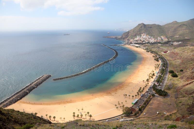 de las playa tenerife teresitas royaltyfri bild