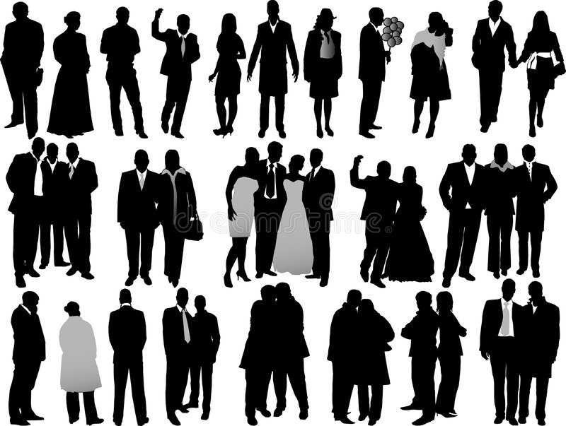 De las siluetas de la variedad hombres de negocios libre illustration