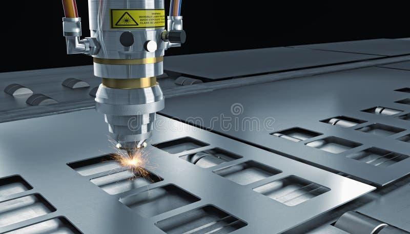 De laser sneed machine vector illustratie