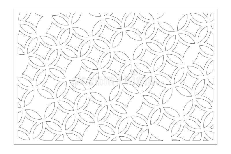 De laser sneed paneel Decoratieve kaart voor knipsel Arabisch, het patroon van de lijnkunst Verhouding 2:3 Vector illustratie royalty-vrije stock foto's