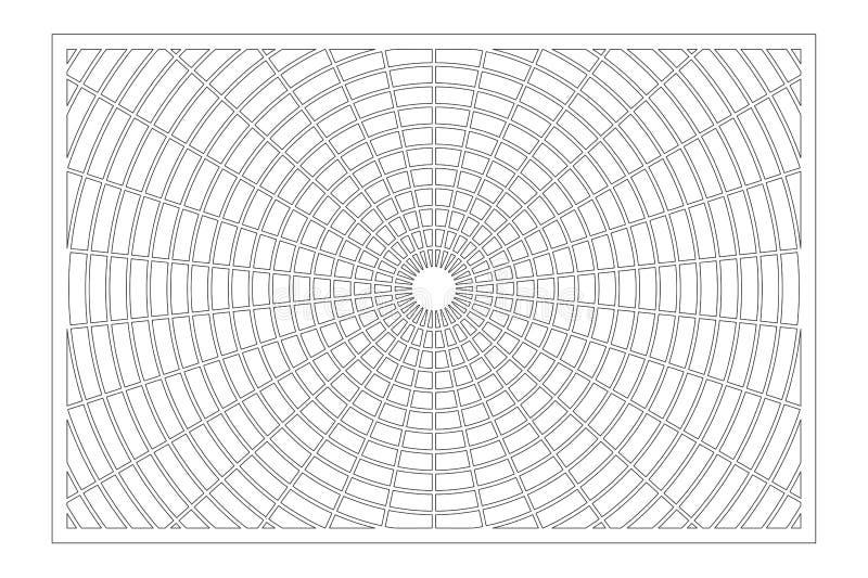 De laser sneed paneel Decoratieve kaart voor knipsel Het patroon van de meetkundelijn Verhouding 2:3 Vector illustratie royalty-vrije stock foto