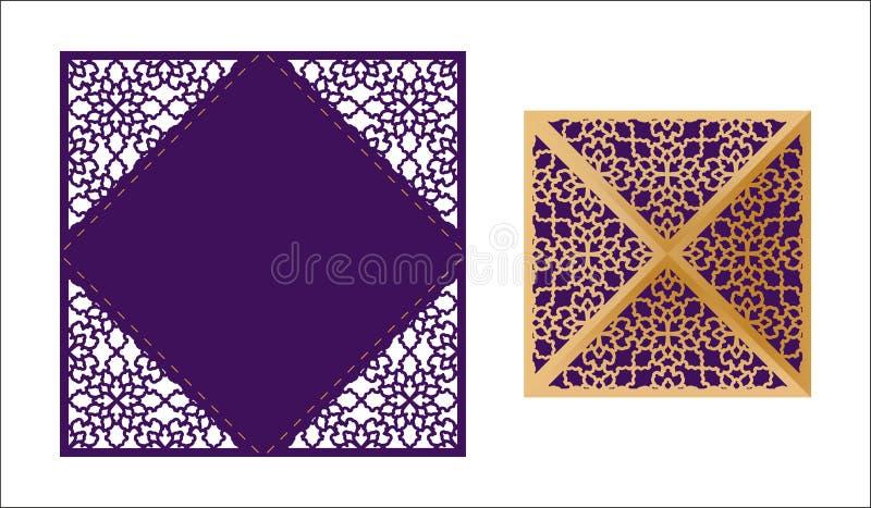 De laser sneed sier kant-Gegrenst vectormalplaatje De luxe begroet royalty-vrije illustratie