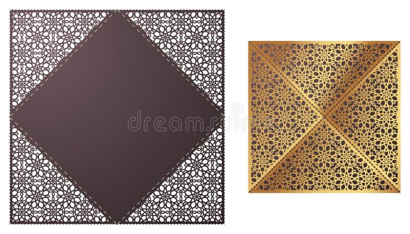 De laser sneed sier kant-Gegrenst vectormalplaatje De luxe begroet stock illustratie