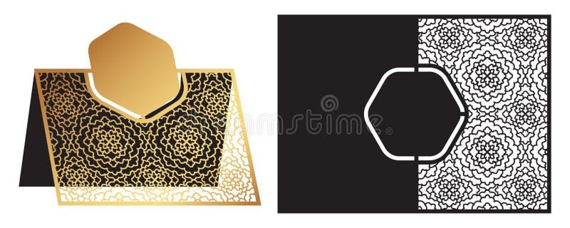 De laser sneed sier vectormalplaatje Freestanding lijstaantal, royalty-vrije illustratie