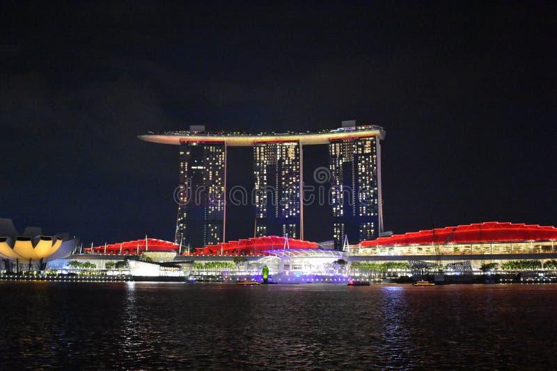 De laser toont Singapore royalty-vrije stock afbeelding