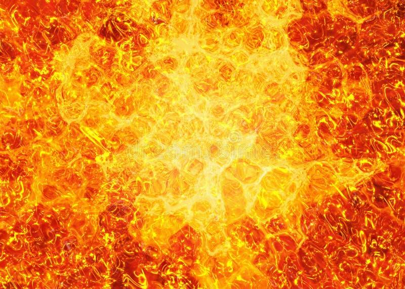 De lavaachtergronden van de hittebrand vector illustratie