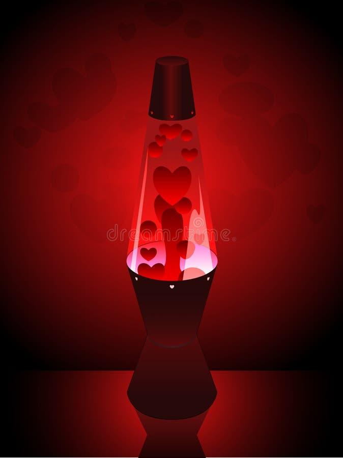 De lavalamp van de liefde vector illustratie