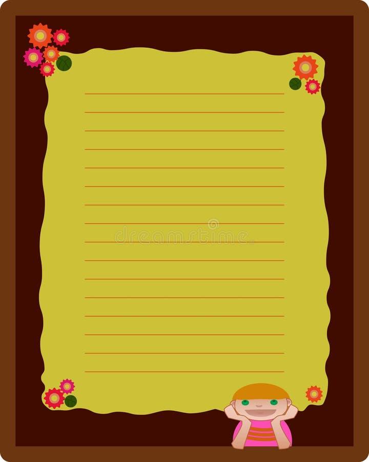 De lay-out van de het boekpagina van de nota royalty-vrije illustratie