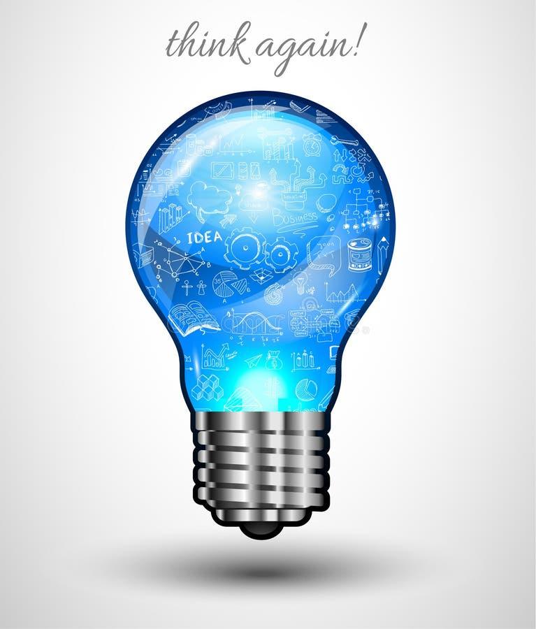 De Lay-out van het ideeconcept voor Brainstorming en Infographic-achtergrond stock illustratie
