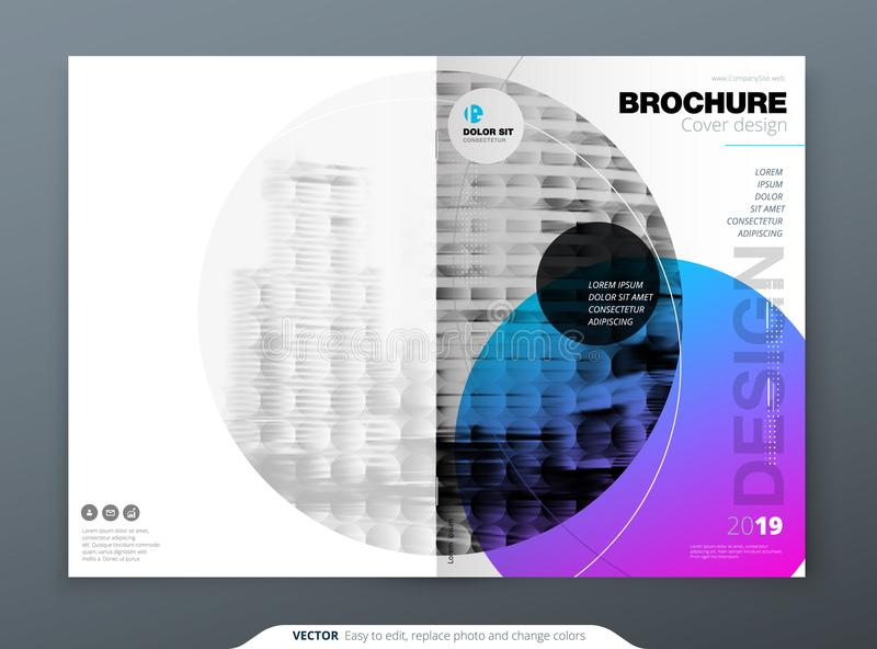De lay-outontwerp van het brochuremalplaatje Collectief bedrijfs jaarverslag, catalogus, tijdschrift, brochure, vliegermodel crea vector illustratie