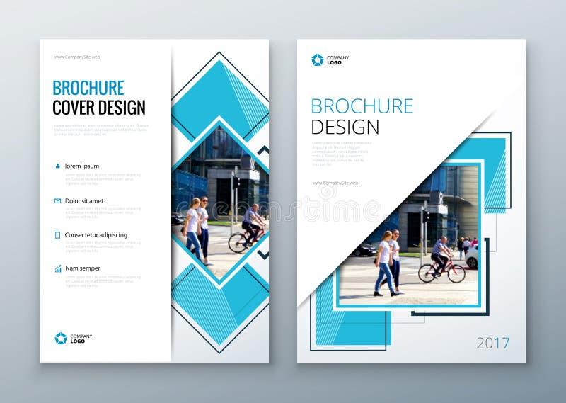 De lay-outontwerp van het brochuremalplaatje Collectief bedrijfs jaarverslag, catalogus, tijdschrift, vliegermodel Creatieve mode stock illustratie