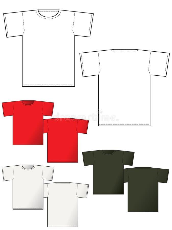 De lay-outrug en voorzijde van de t-shirt vector illustratie