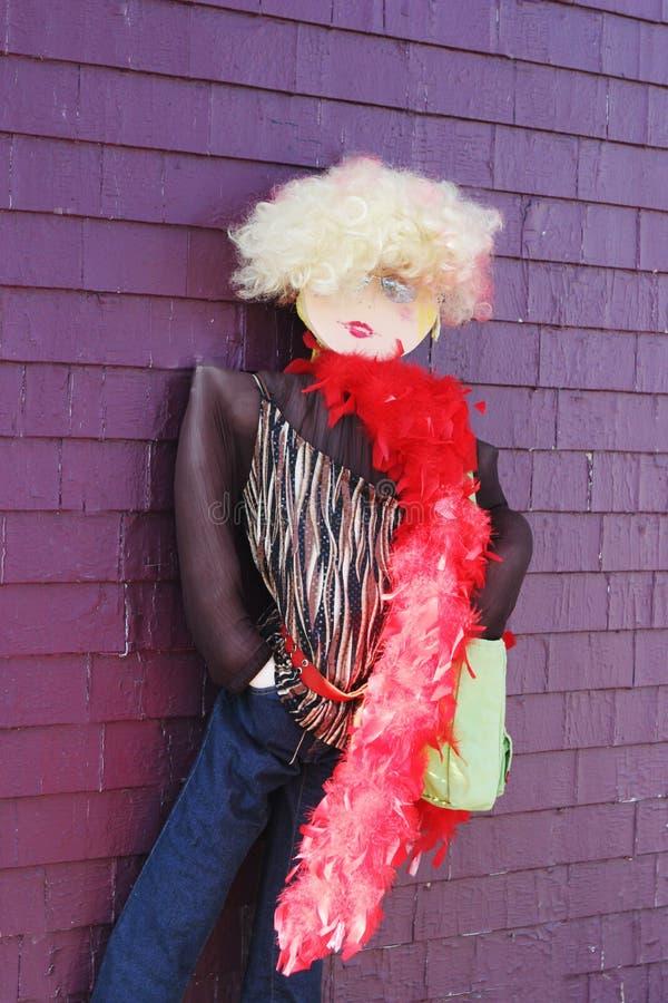 De ledenpop kleedde zich in funky kleding stock fotografie