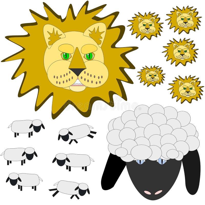 De leeuw en het lam van maart royalty-vrije illustratie