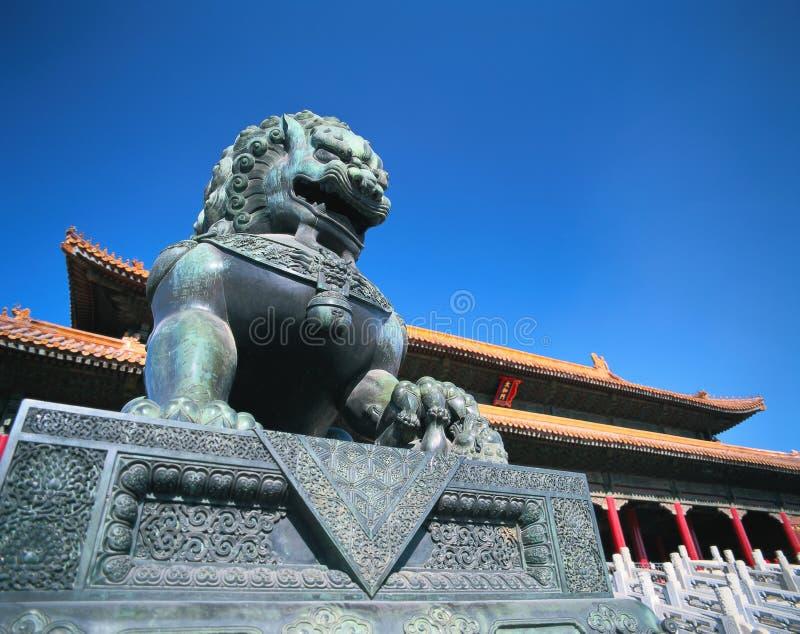 De leeuw van de steen van China royalty-vrije stock foto