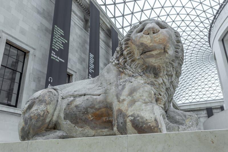 De Leeuw van Knidos in British Museum royalty-vrije stock fotografie