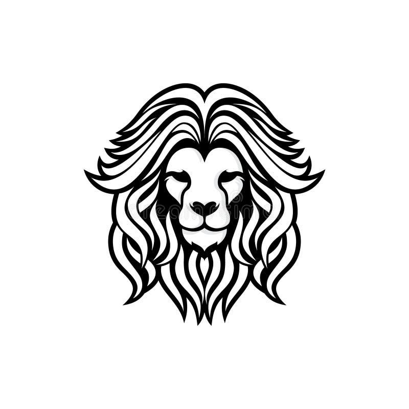 De leeuwhoofd van het silhouet vectorontwerp royalty-vrije illustratie