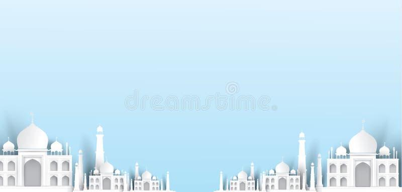 De lege achtergrond van de moskeetekst, modern elegant Islamitisch ontwerp stock illustratie