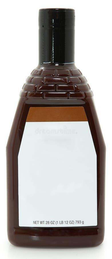 De lege BBQ van de Fles van het Etiket 28oz Saus van de Barbecue royalty-vrije stock afbeelding