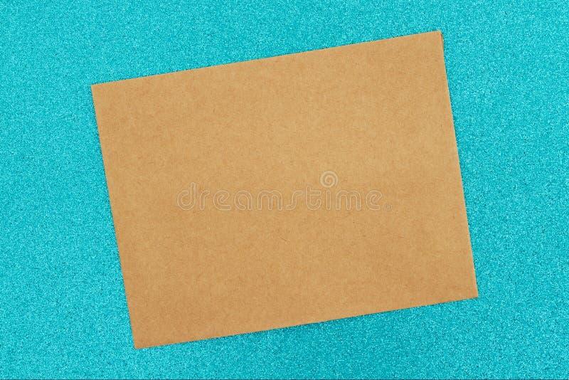 De lege bruine wintertaling van de groetkaart schittert document stock foto's