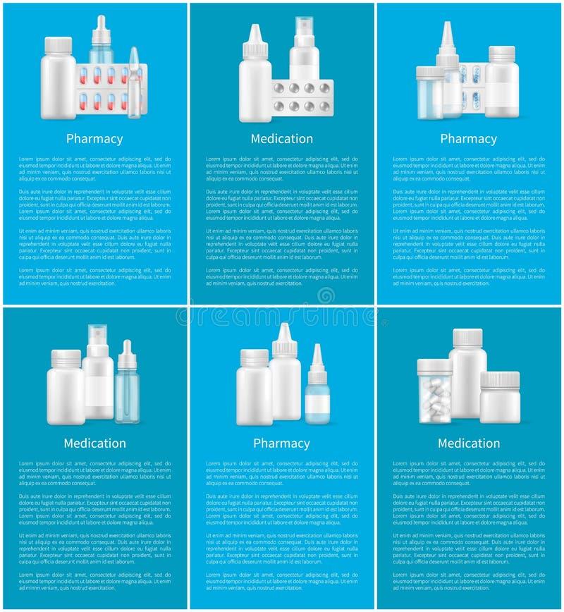 De Lege Containers van het apotheekmedicijn voor Remedies vector illustratie