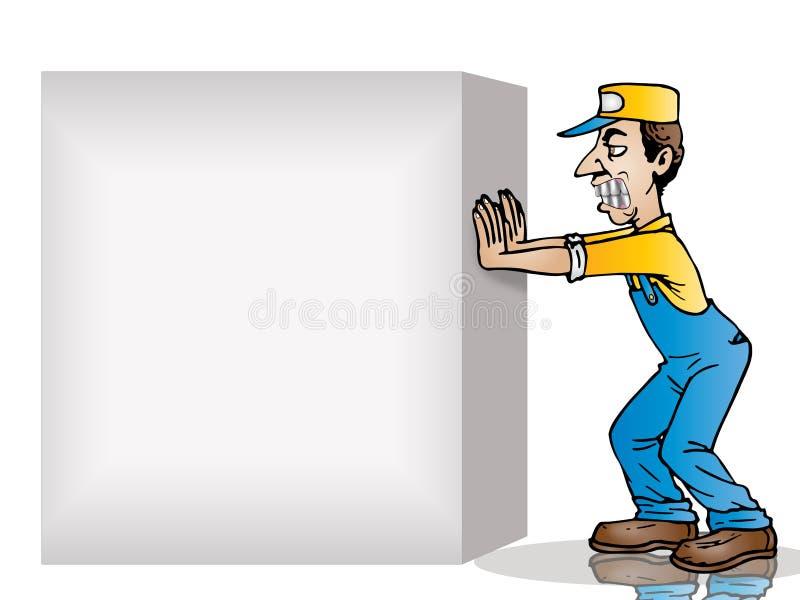 De lege doos van de duw stock illustratie