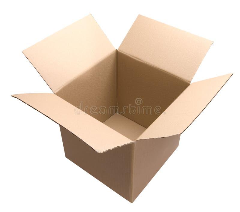 De lege Doos van het Karton stock afbeeldingen