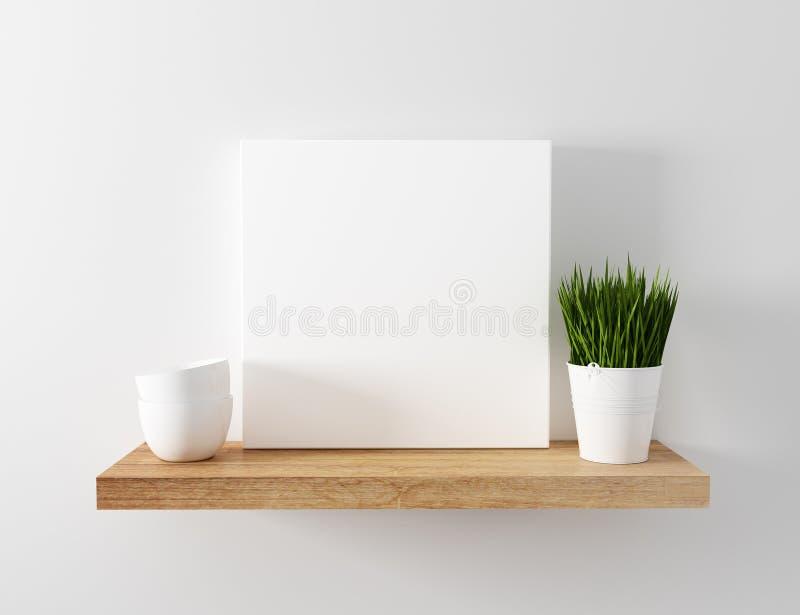 De lege drijvende plank van het canvasmodel