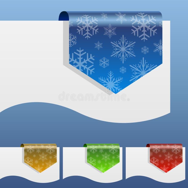 De lege etiketten van de de winterkorting stock illustratie