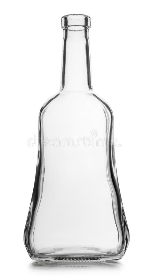 De lege fles van het glas royalty-vrije stock fotografie