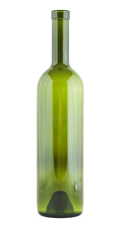 De lege fles van het wijnglas stock fotografie