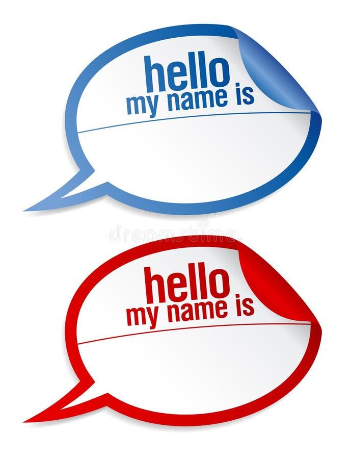De lege geplaatste stickers van het naamplaatje. royalty-vrije illustratie
