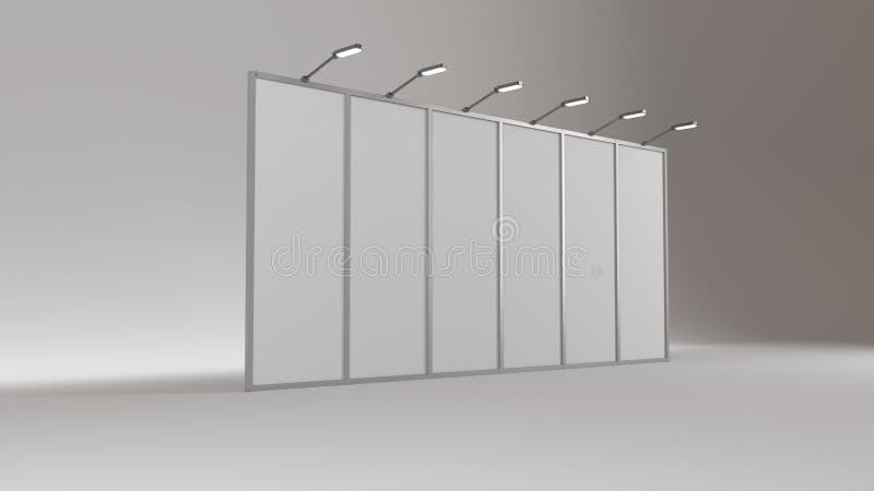 De lege handel toont cabinemodel 3d geef terug stock illustratie