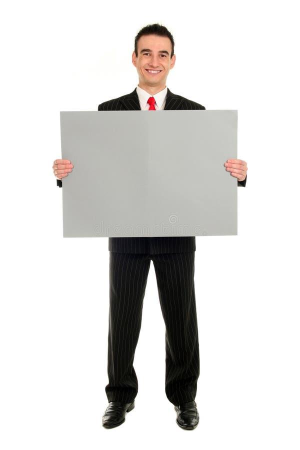 De Lege Kaart van de Holding van de mens royalty-vrije stock fotografie