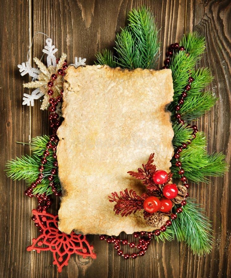 De Lege Kaart van Kerstmis stock foto's